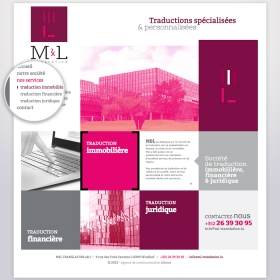 M&L Translation Responsive design