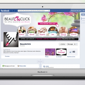Beautéclick Conception site/facebook