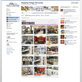 Pall Center Site vitrine Facebook
